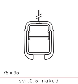 SURVIVOR SV0.5 Naked suspended pendant for adverse environment IP66