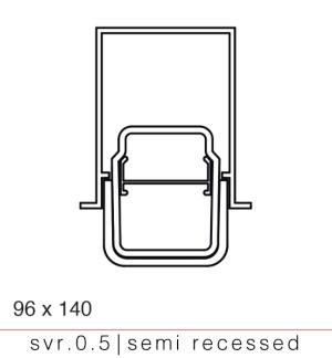 svr.0.5 semi-recessed