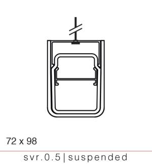 svr 0.5 linear LED pendant for adverse environment